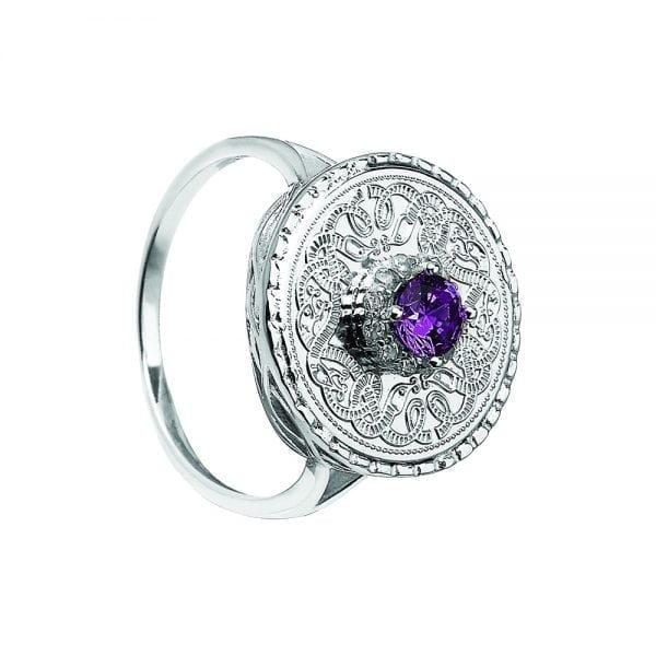Amethyst Celtic Warrior Ring