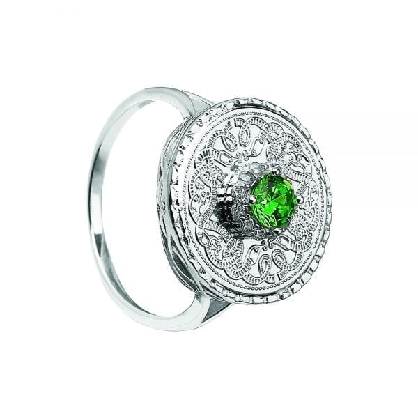 Emerald Celtic Warrior Ring