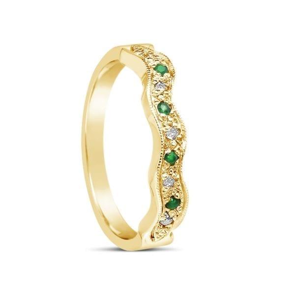 Matching Wedding Band for ENG34 Emerald Design Ring