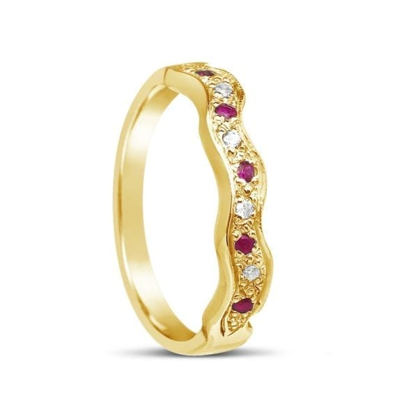 Matching Wedding Band for ENG34 Ruby Design Ring