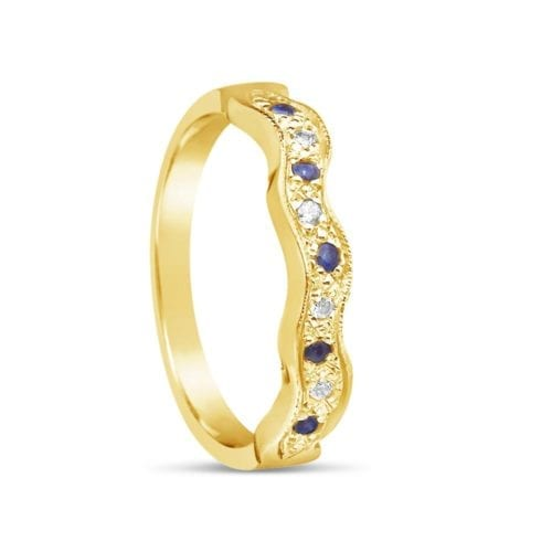 Sapphire Design Wedding Band