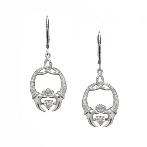 Dancing Stone Silver Earrings