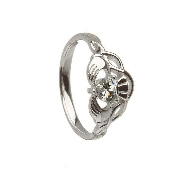 Contemporary Claddagh Ring - Celtic Jewelry