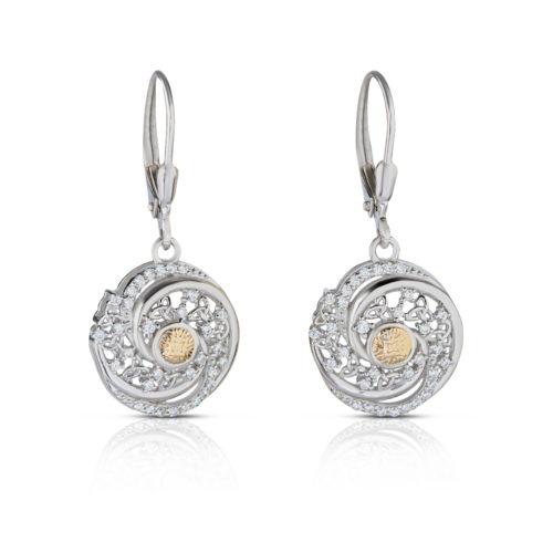 Solstice Earrings with Swirls