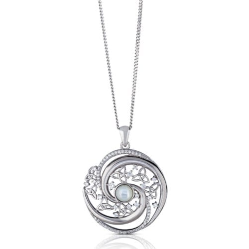 Arian Mother of Pearl Swirl Pendant