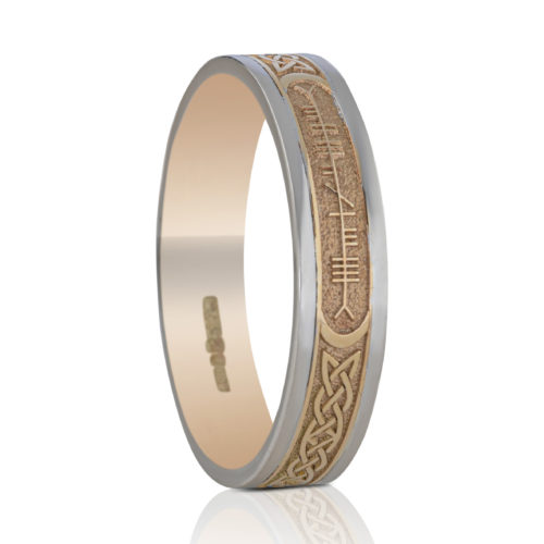 5mm Custom Ogham Wedding Ring