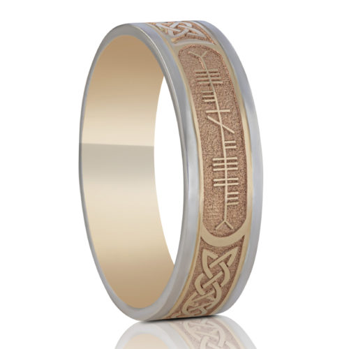 6.5mm Custom Ogham Wedding Ring