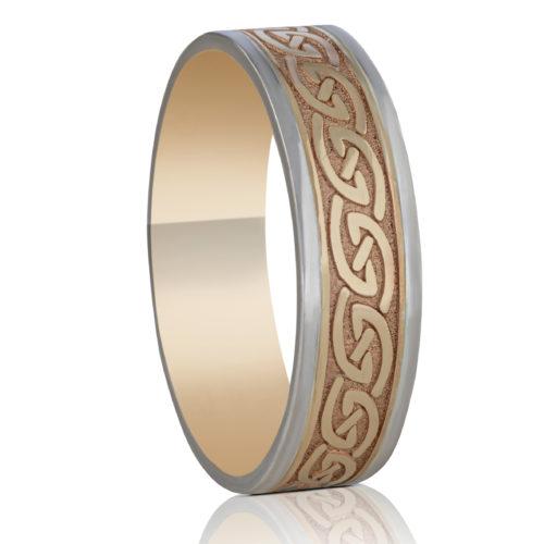 6.5mm Celtic Waves Wedding Ring
