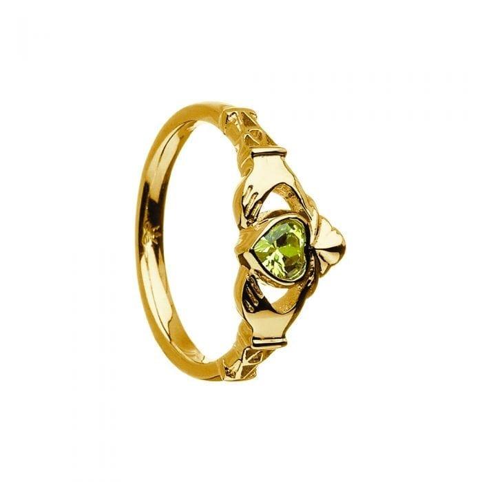 August Birthstone Claddagh Ring