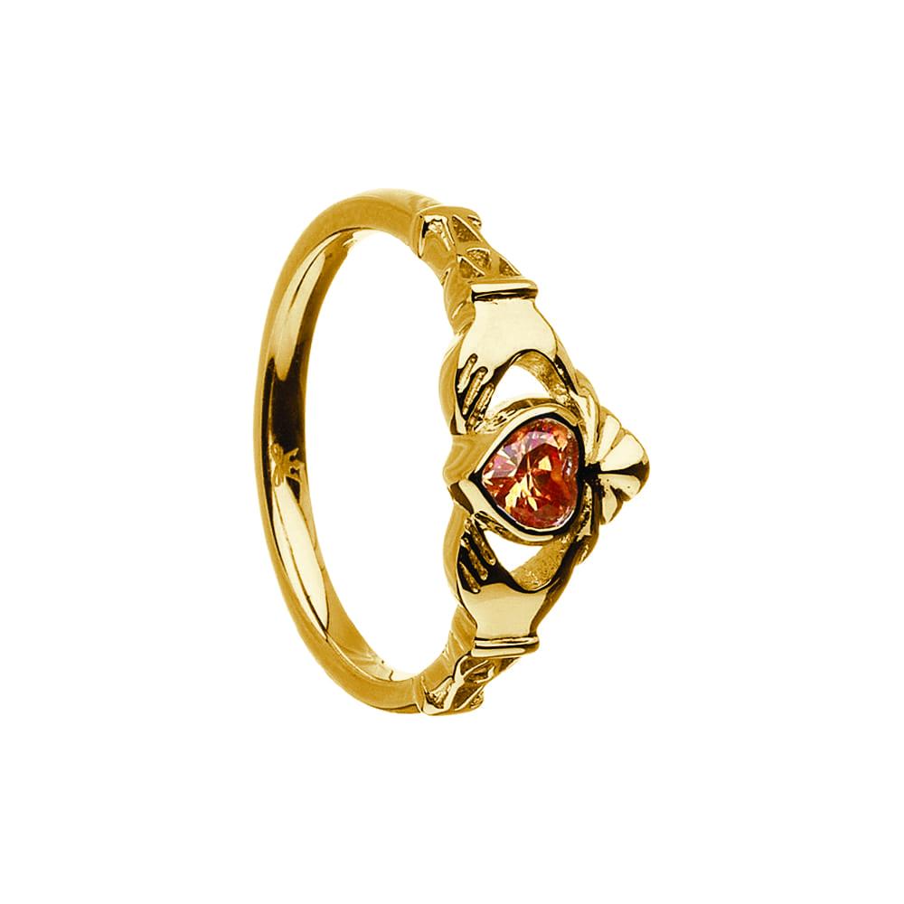 November Birthstone Claddagh Ring