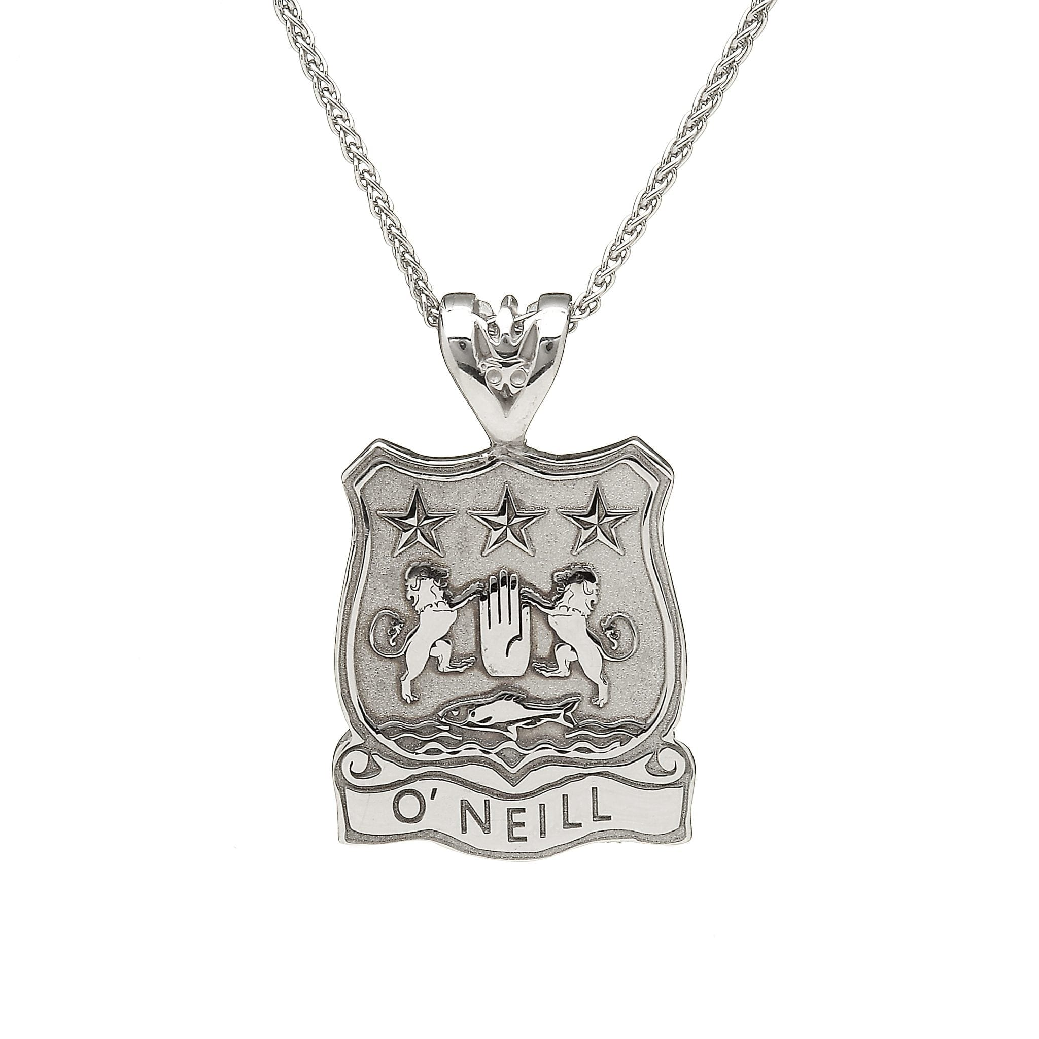 Shield Coat of Arms Pendant with Name