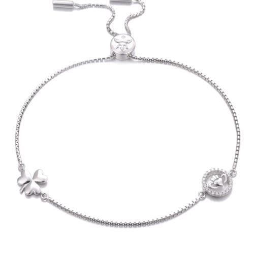 Claddagh & Shamrock Bracelet