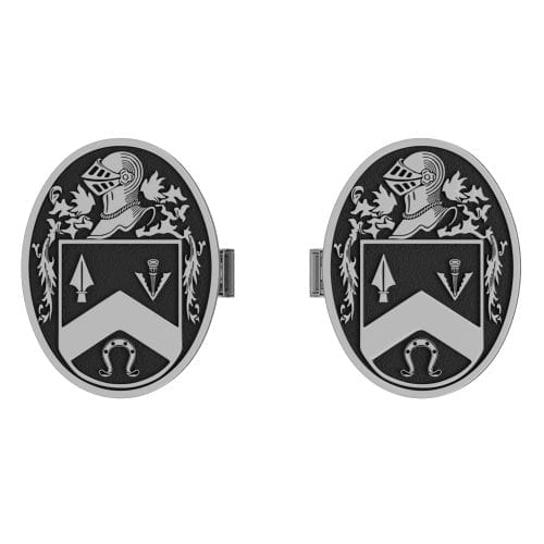 Large Coat of Arms Cufflinks – Oval Shaped