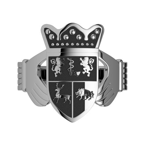 Coat of Arms Claddagh Ring – Gents